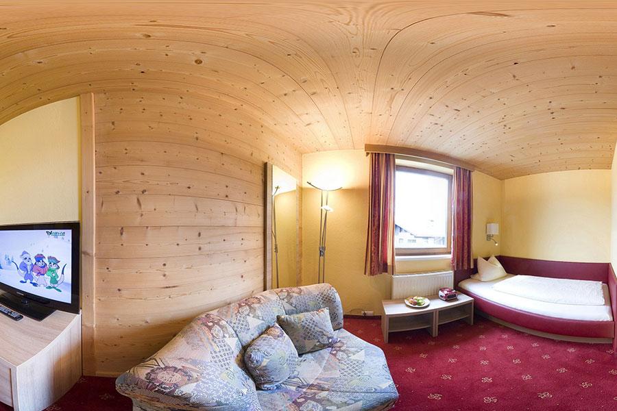 Wohnbeispiel Einzelzimmer - Hotel Bruno, Fügen im Zillertal - www.hotelbruno.at